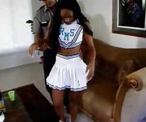 Little girlfriend gets an unwanted spanking.