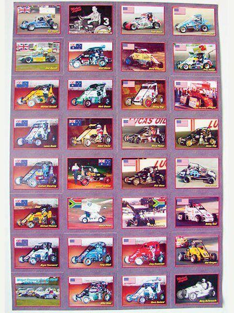 Honoring great midget drivers trading cards