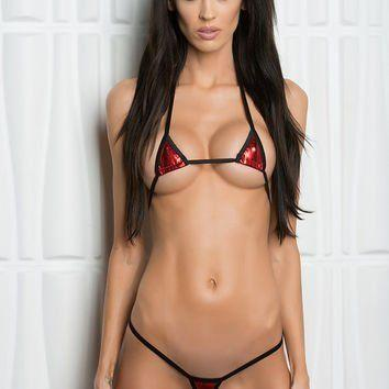 Asian bikini model photo thong