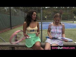 Kicks reccomend Hot tennis couch licked by lesbian trainee. Teens xxx video