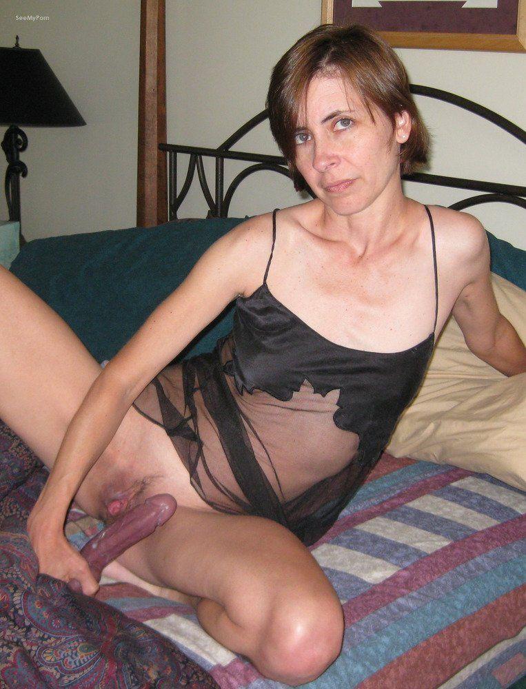 amateur pics dildo Mature female