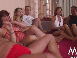 Girl sitting on boys face