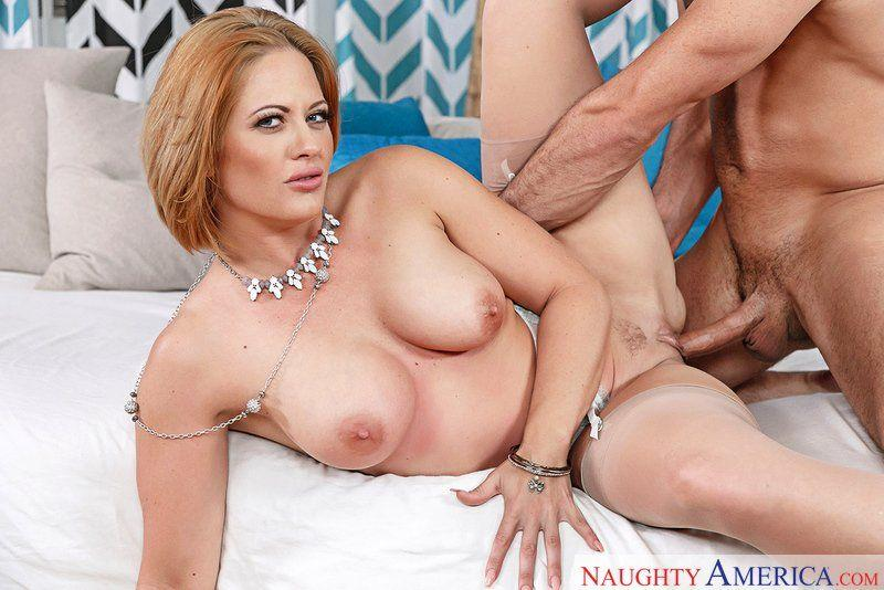 Step mom Holly Heart playing with cock. Big Tits porn clips