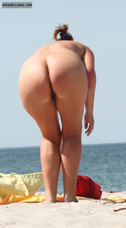 Naked butt nude beach