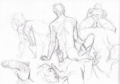Sketch nude figure