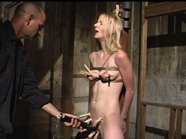 Delightful small tit bondage pity, that
