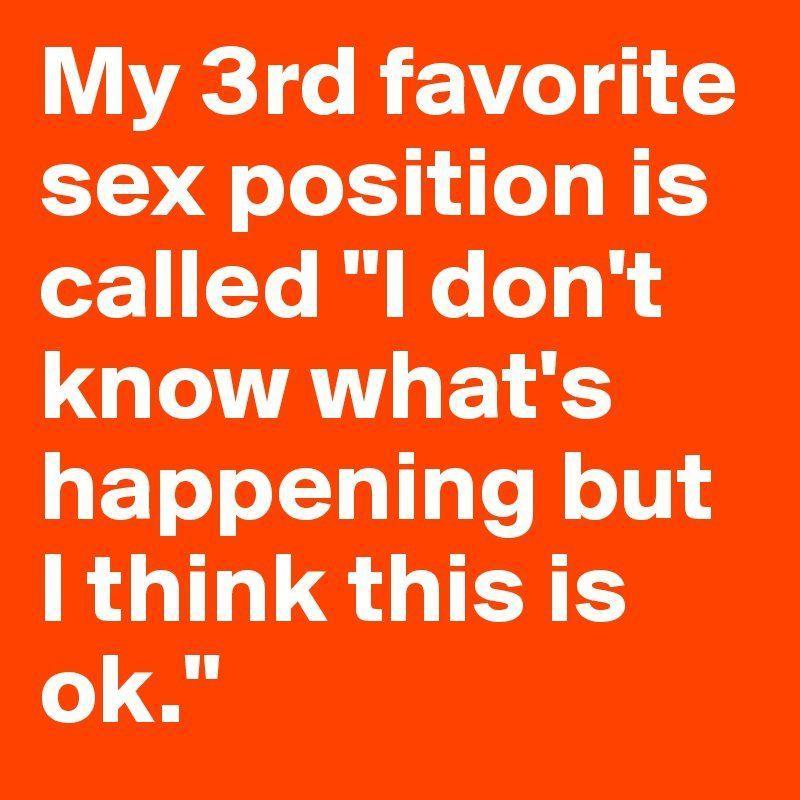 Position post sex Favorite