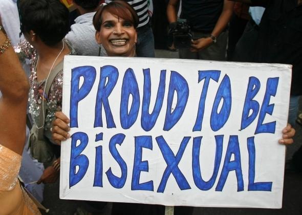 Lesbian double penetration dildo