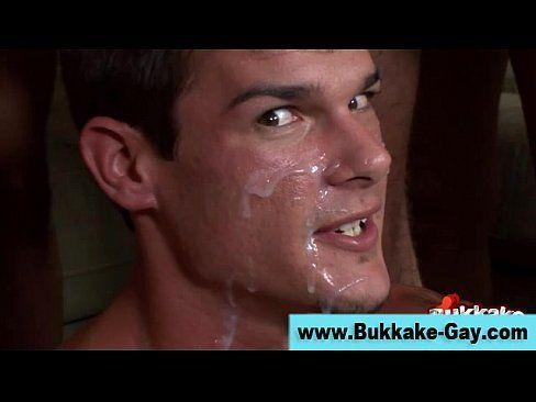 Gay facial bukake