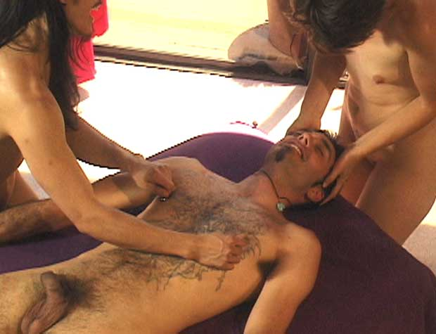 Sexy massage for a man