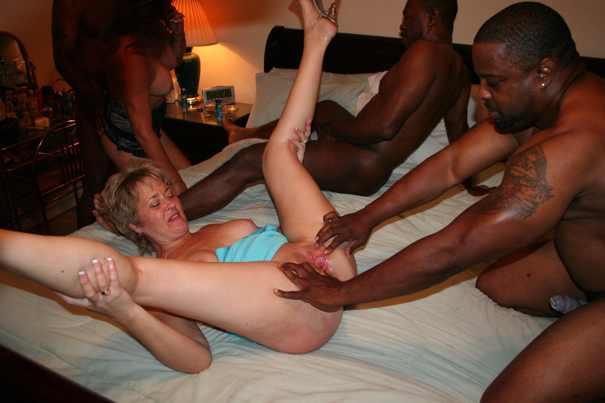 Black men orgy my wife