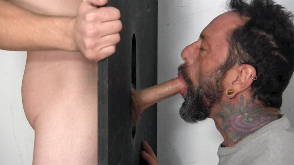 Straight Male Sucking On A Stiff Schlong For Cash