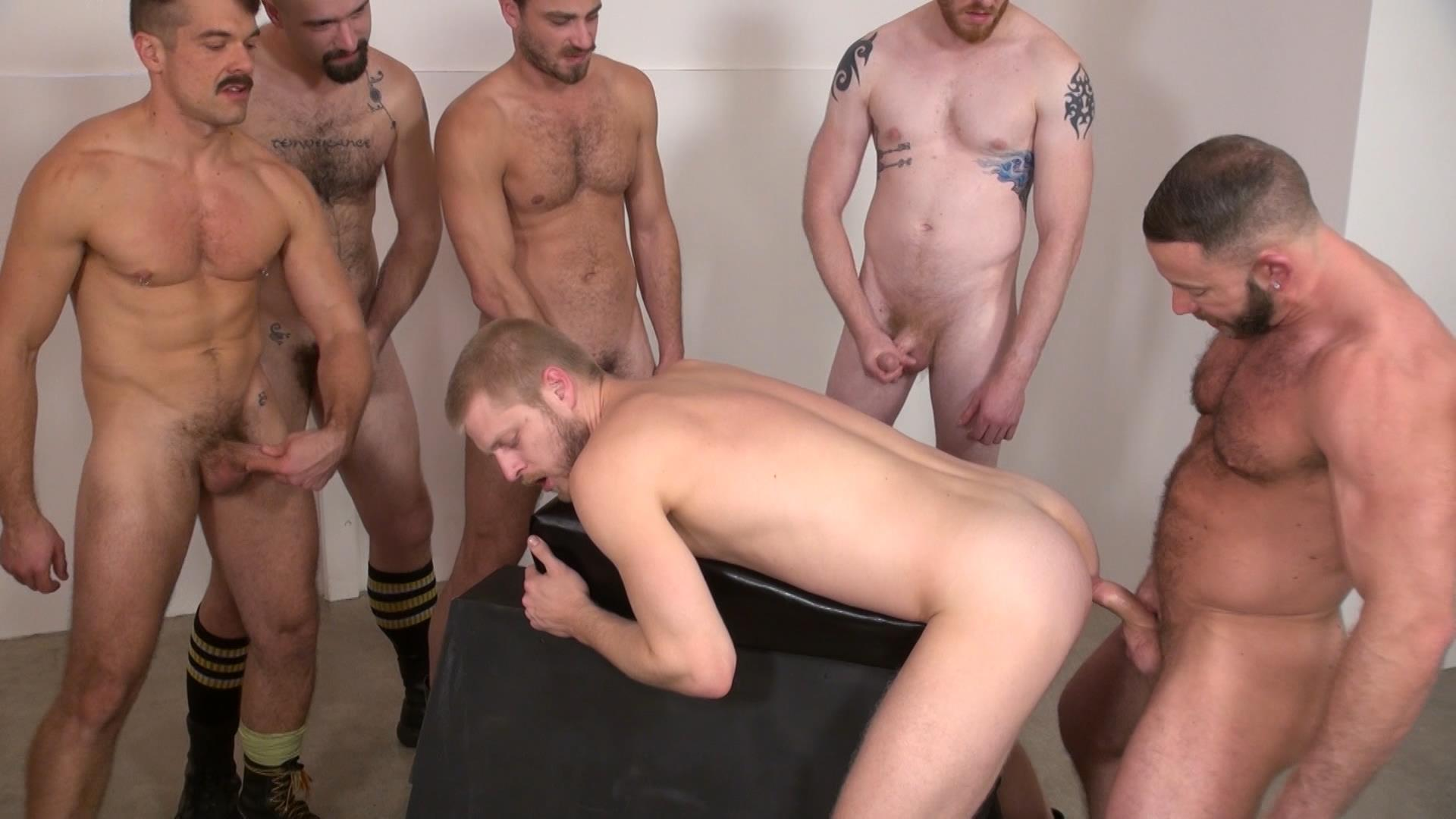 orgy Hairy men