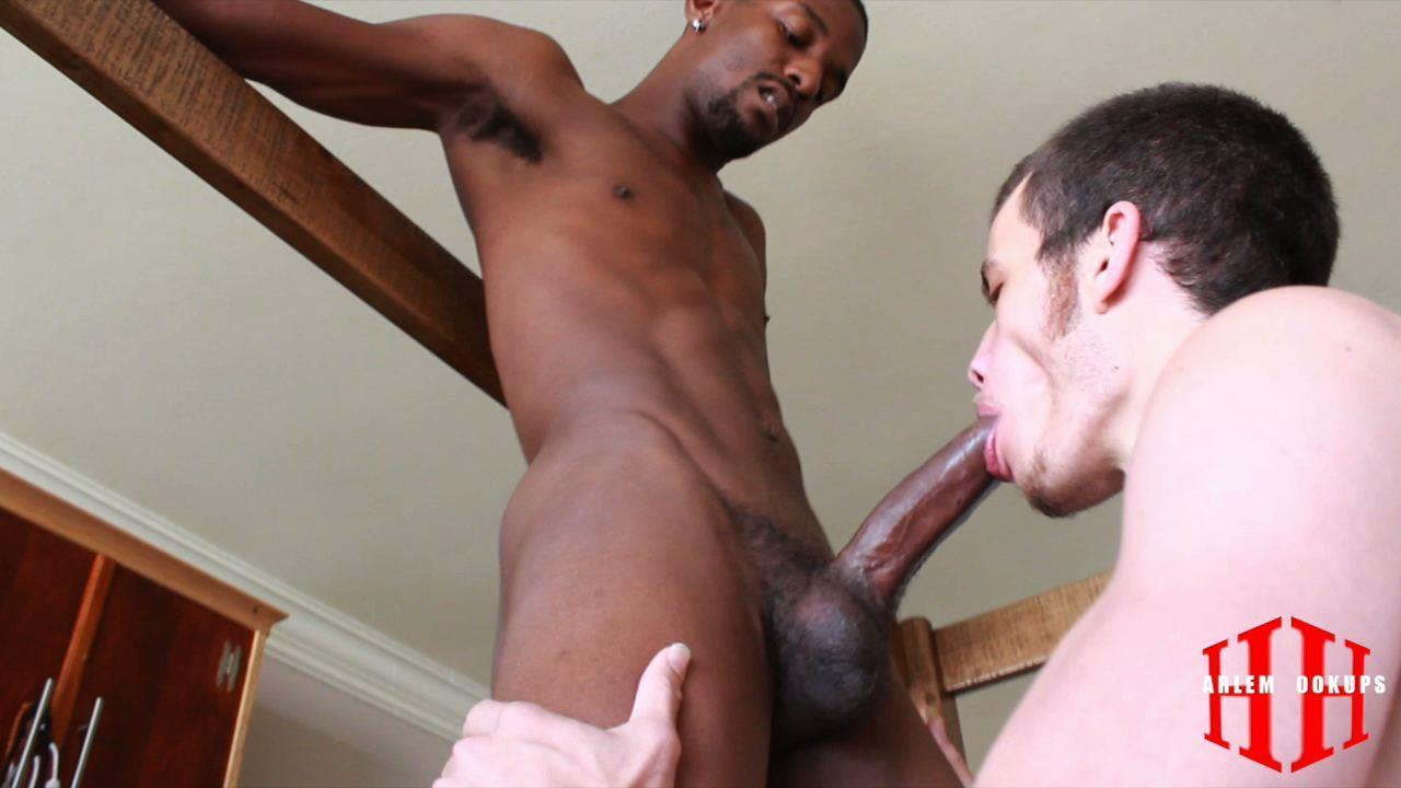 Thug ass cumshot by white cock