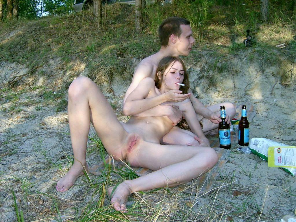 My nudist friends cookout