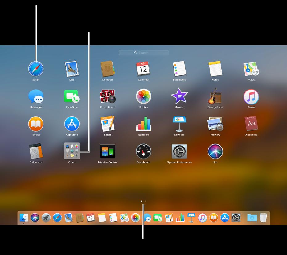 Control strip for mac os x