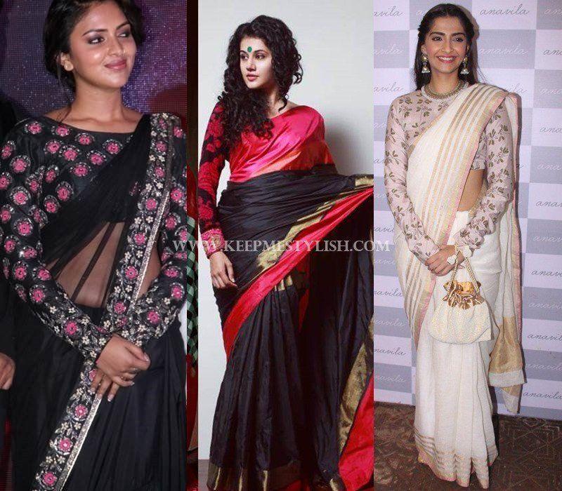 Valuable saree blouse female domination have