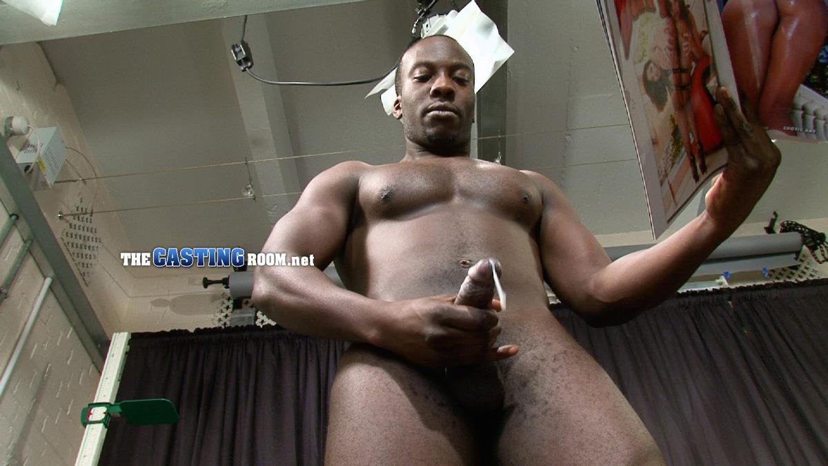 Guy masturbating huge cock