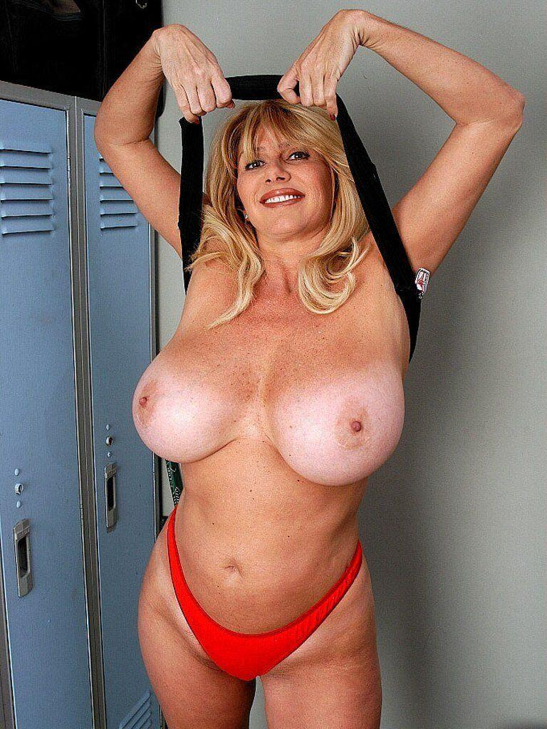 Big tits on older women have