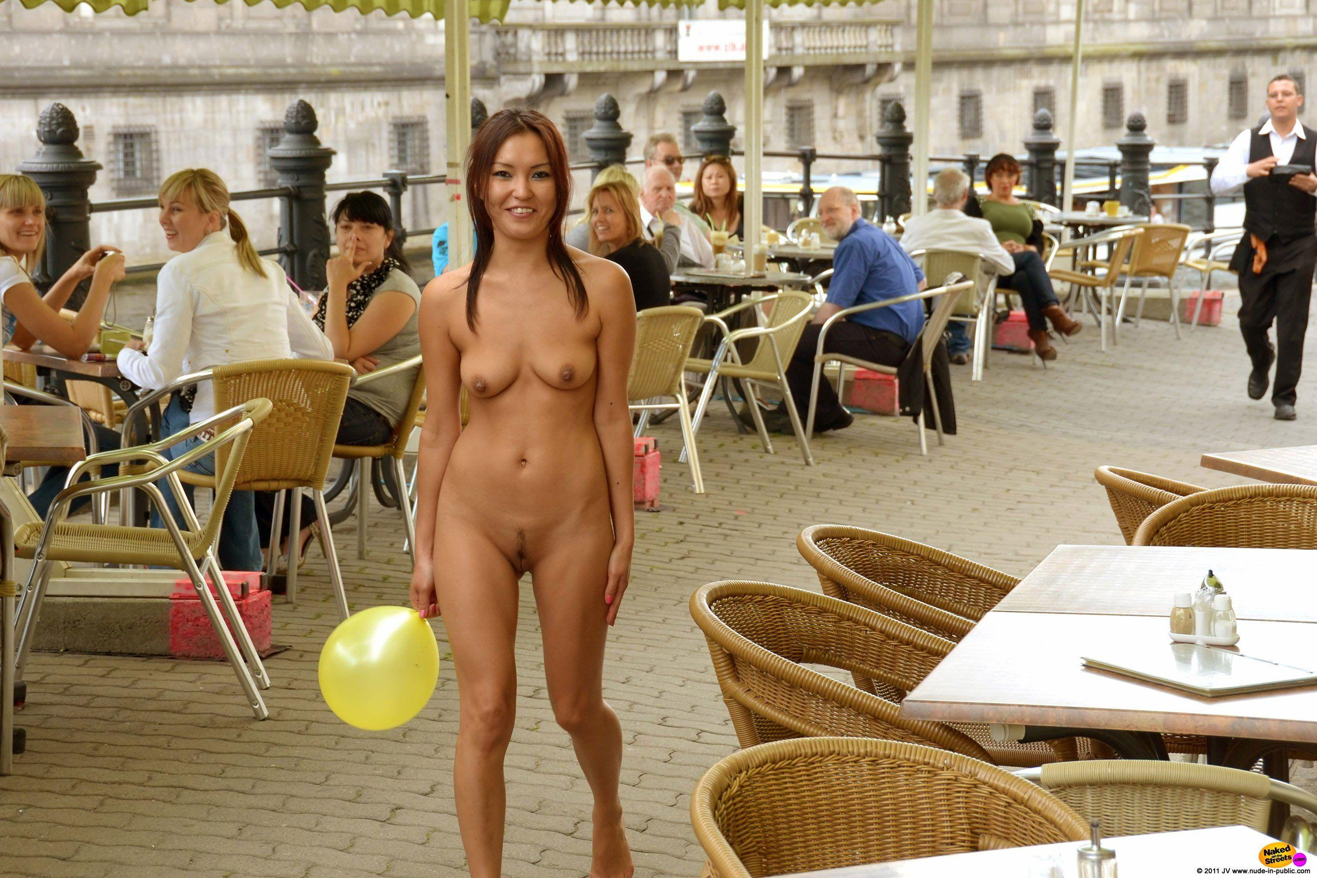 Real girls nude in public