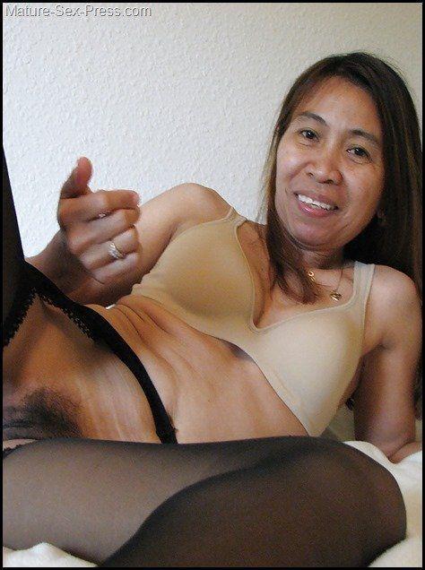 Hairy asian pussy milf