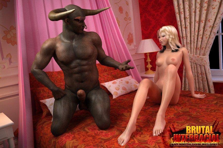 Bdsm interracial black man blonde