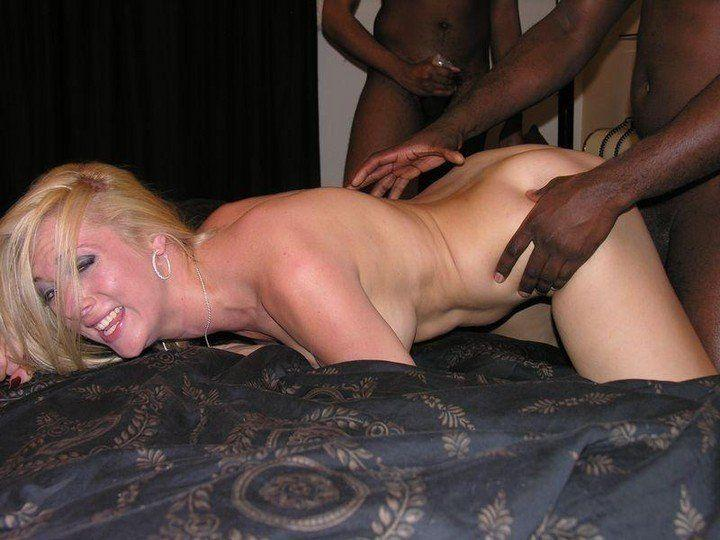 Drunk white slut black cock