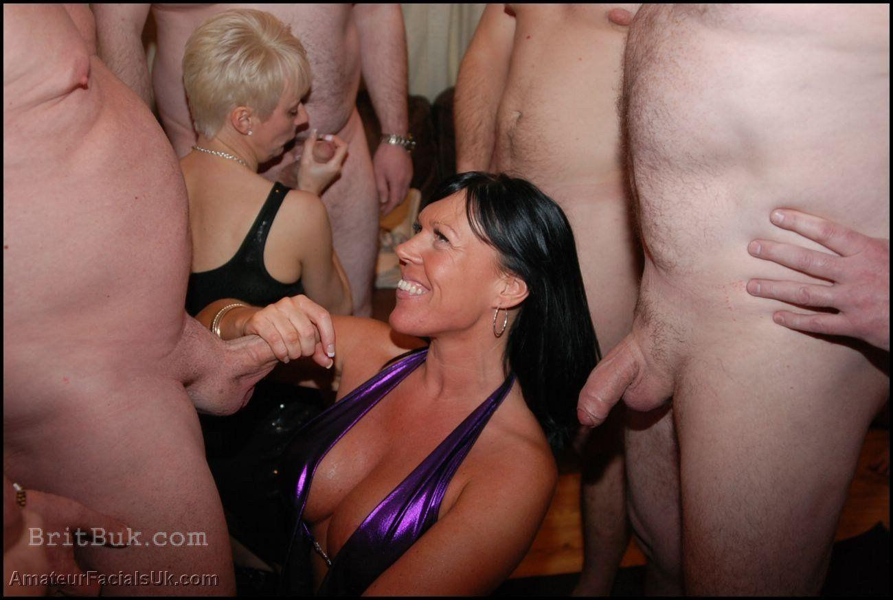 Milf cum bukkake party