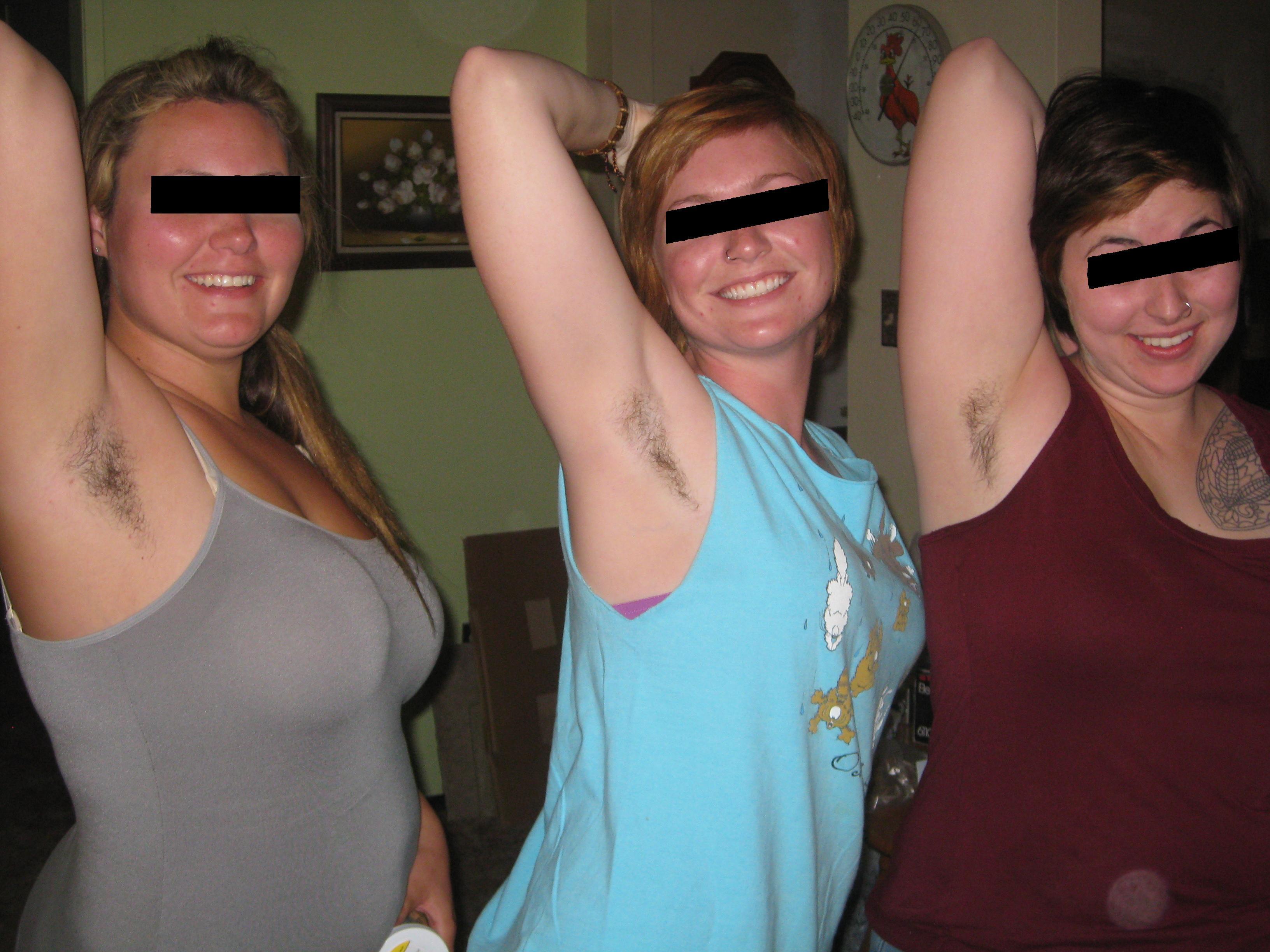 Busty hairy armpits