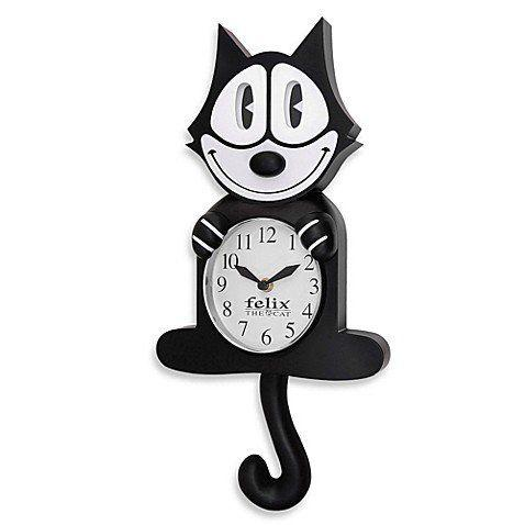 best of Clock round swinging body with Cat