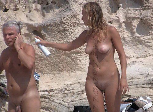 For Beach shower spain voyeur web