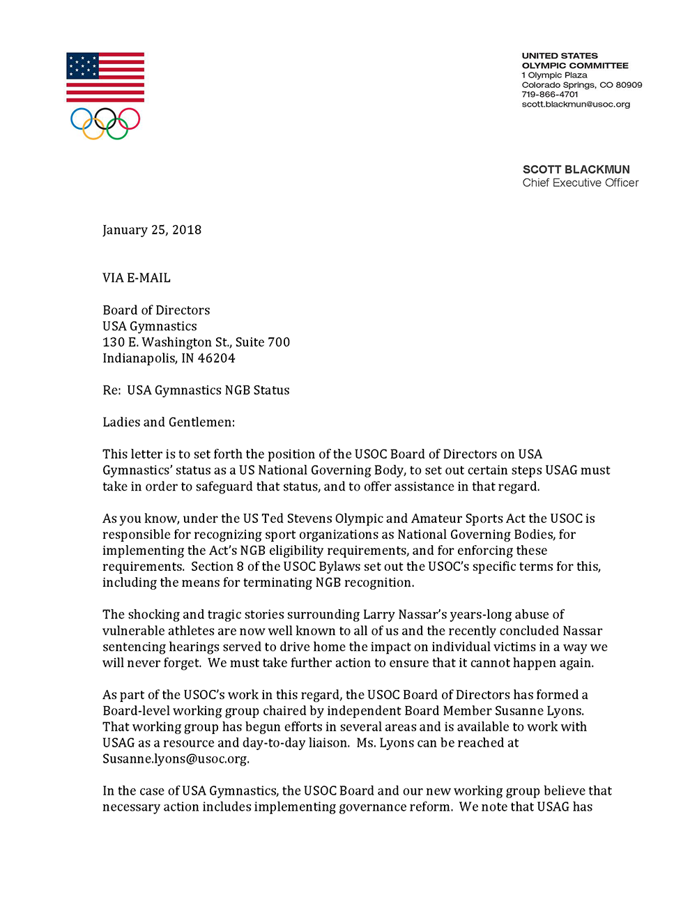 Ted stevens olympic amateur sports act