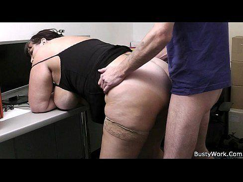 blowjob Chubby office