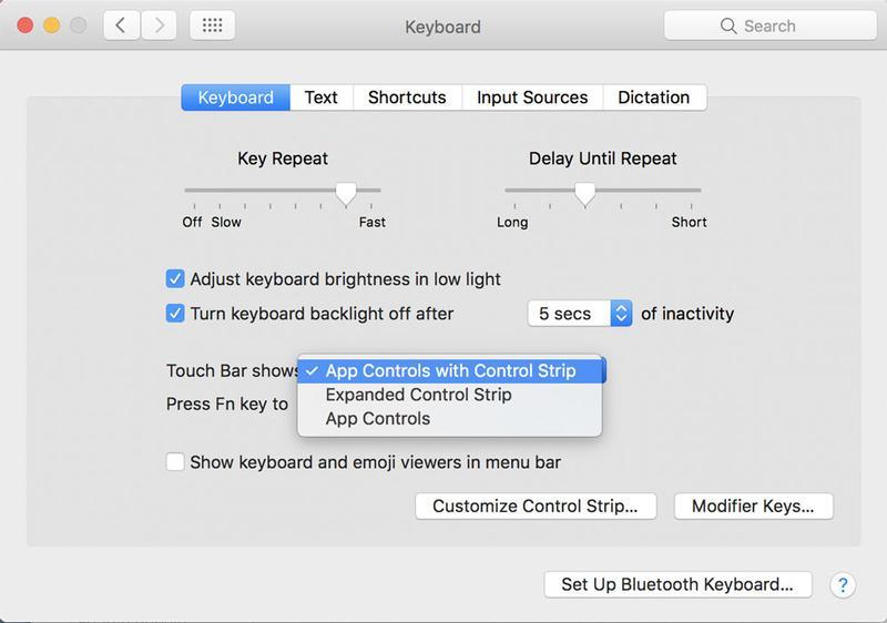 Pixy reccomend Control strip for mac os x