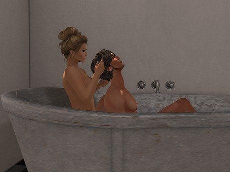Porn erotic bathtub photos
