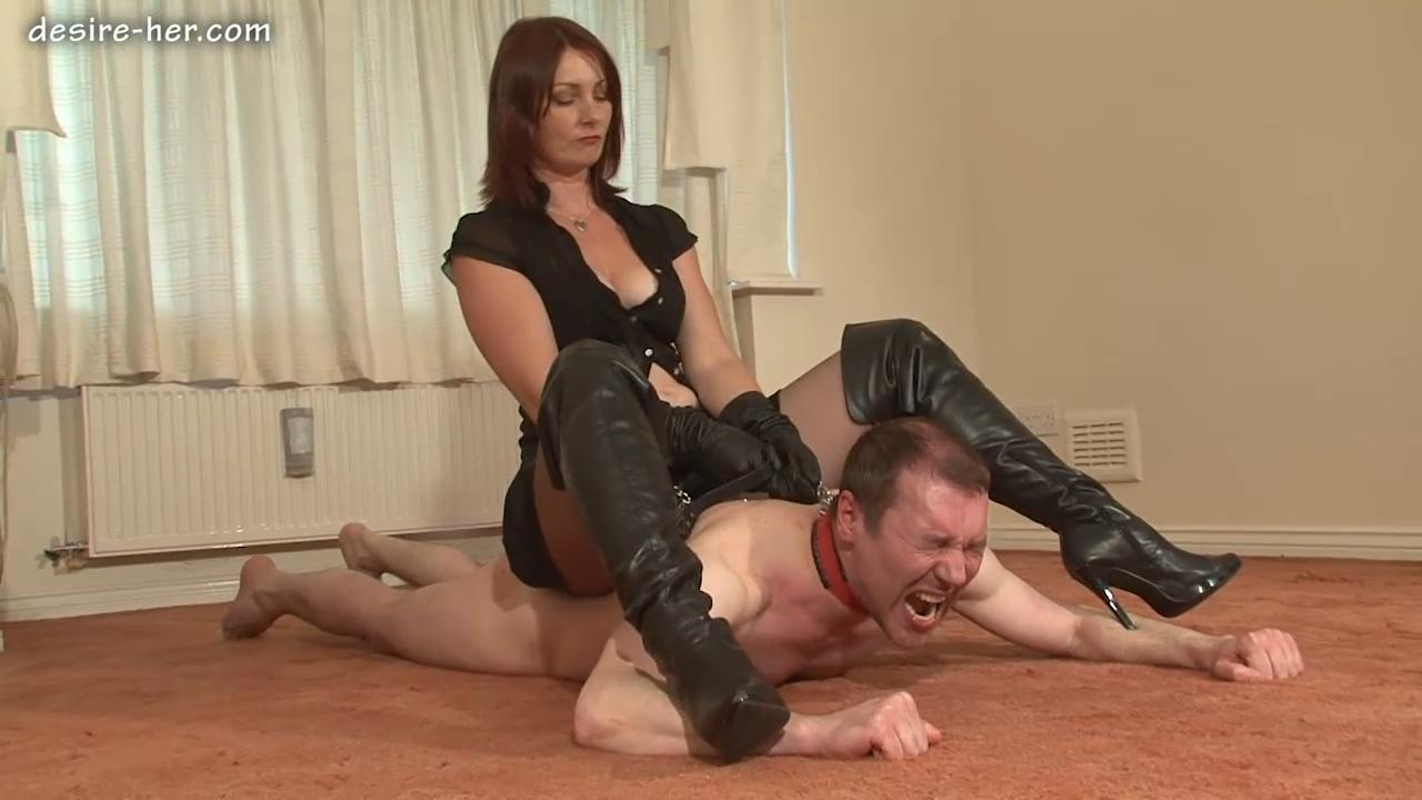 Domination female kicking