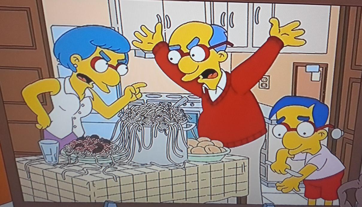 Bart cutting milhoues dick