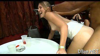 Horny Office Girls Party With Stripper Dancing Bear Orgy