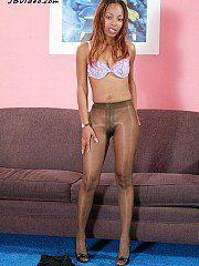 Shinny pantyhose gallery