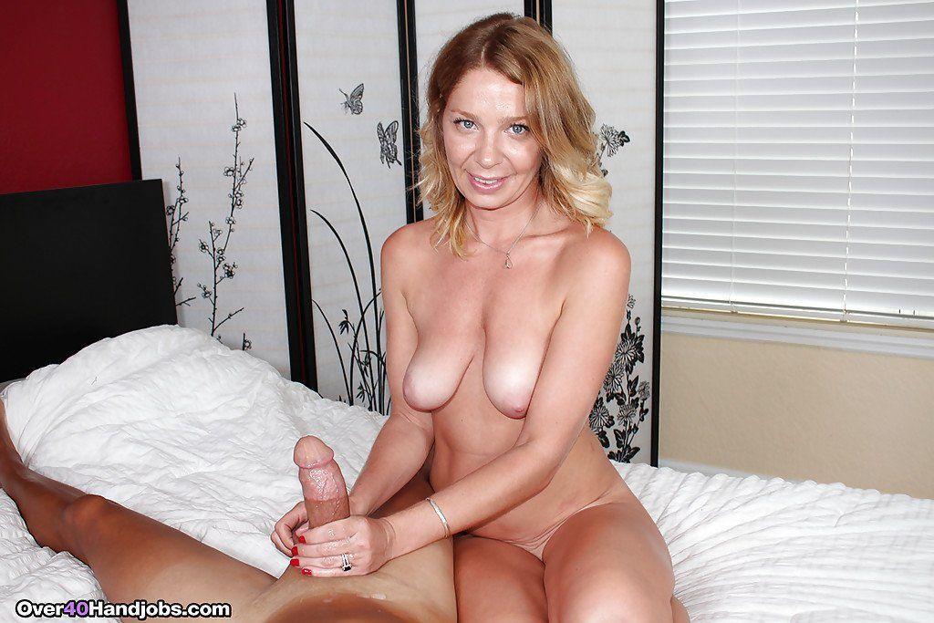 A handful of mature cum