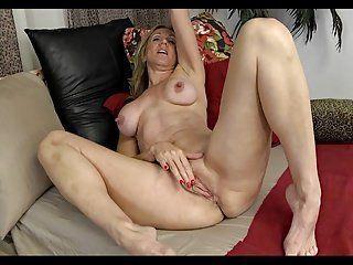 Nude girl fingering in dark
