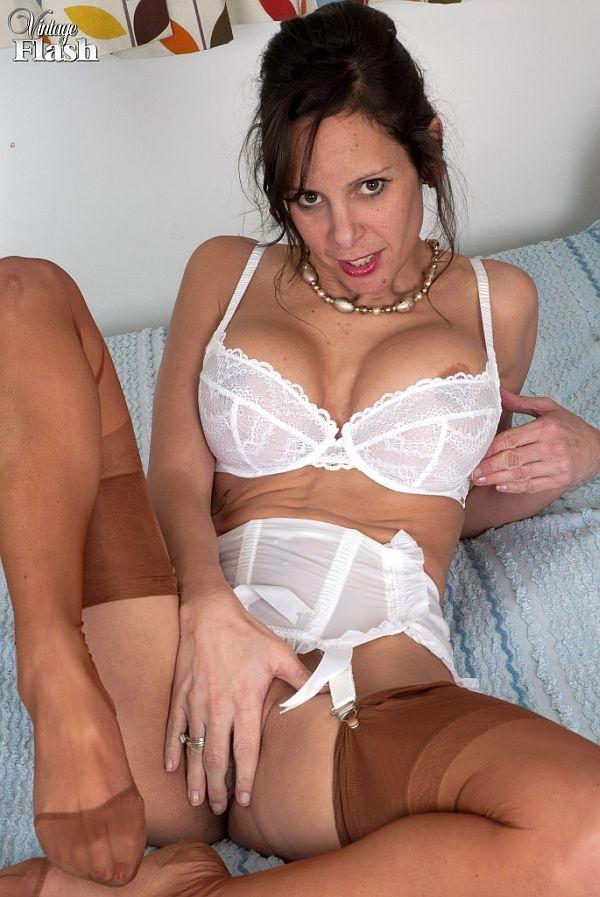 amateur masturbating in nylon stockings, free sex video.