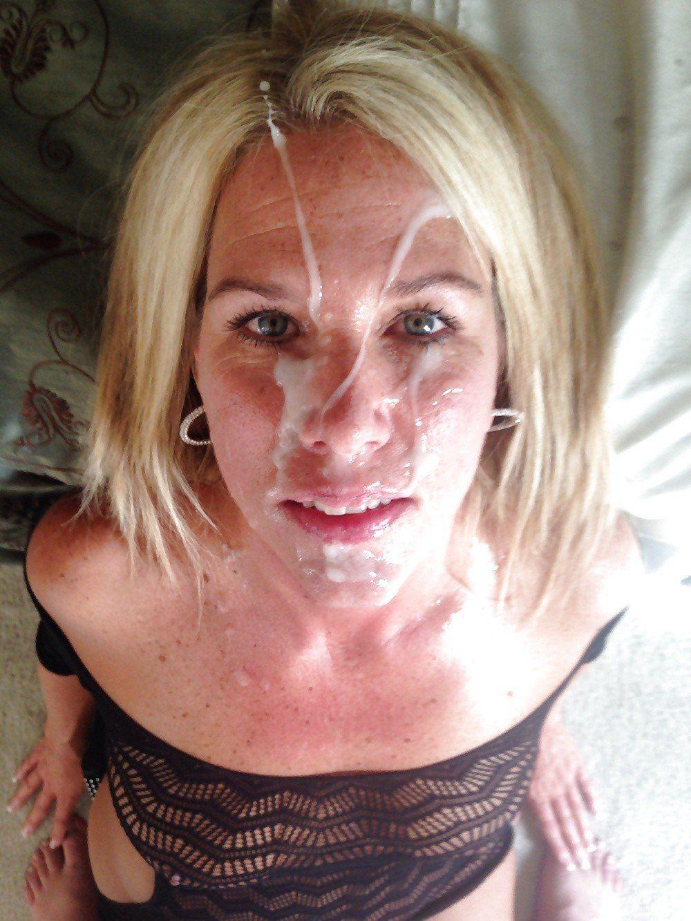 Mature milf facials