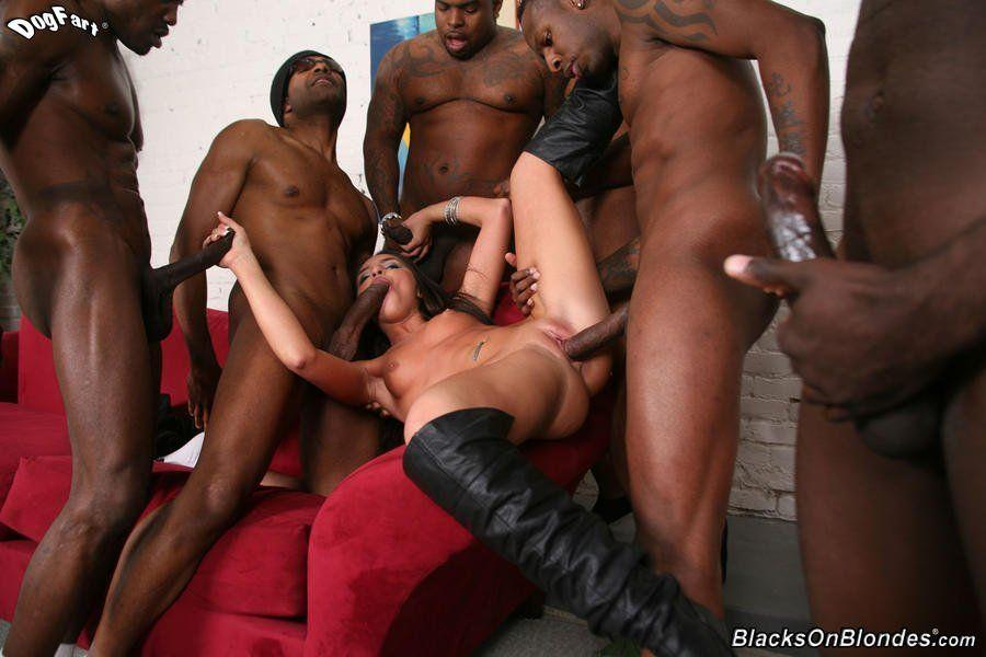 Monster dick gangbang videos