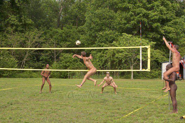 Nudists voleyball video
