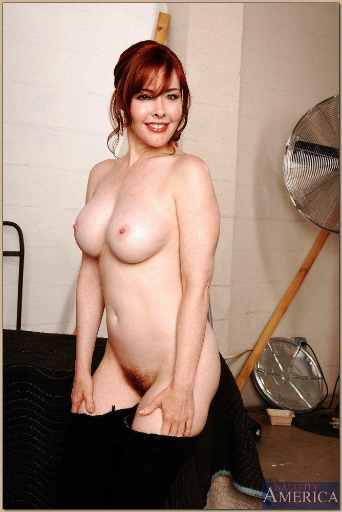 Milf with red pussy hair