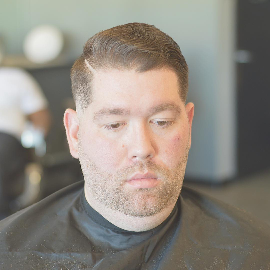 Short haircuts for chubby men